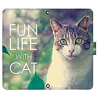 iPhone11 ケース [デザイン:15.キジトラ白猫/マグネットハンドあり] 猫 ネコ ねこ アイフォン11 ip11 手帳型 スマホケース スマホカバー 手帳 携帯 カバー