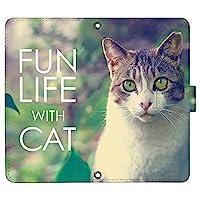 AQUOS sense4 SH-41A ケース [デザイン:15.キジトラ白猫/マグネットハンドあり] 猫 ネコ ねこ アクオスセンス4 sh41a 手帳型 スマホケース スマホカバー 手帳 携帯 カバー