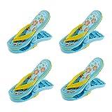 Didad Paquete de 4 Pinzas de PláStico de Toallas de Playa, Bonitas Zapatillas Pinzas de Playa para Tumbonas, Pinzas de LavanderíA de Gran TamaaO para Vacaciones, Playa, Piscina