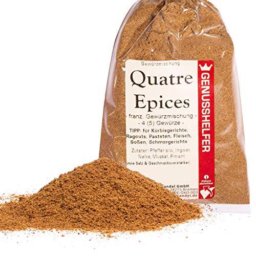 Bremer Gewürzhandel - Quatre Epices gemahlen 50 Gramm - Französische Gewürzmischung - Viergewürz aus 5 Zutaten - ohne Geschmacksverstärker
