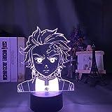 Año nuevo regalo de Navidad luz de noche LED uso doméstico luz de noche luz 3d demon killer mesita de noche pequeña luz regulable