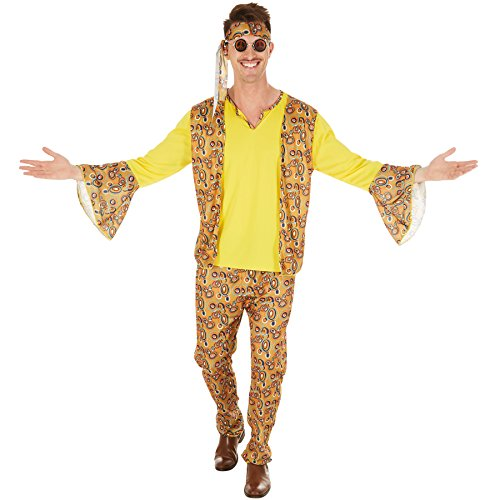 dressforfun Costume da Uomo - Discostar | Il Tutto Secondo i tipici Modelli Retro degli Anni '60 e '70 | con Fascia per Capelli (XXL | No. 300961)