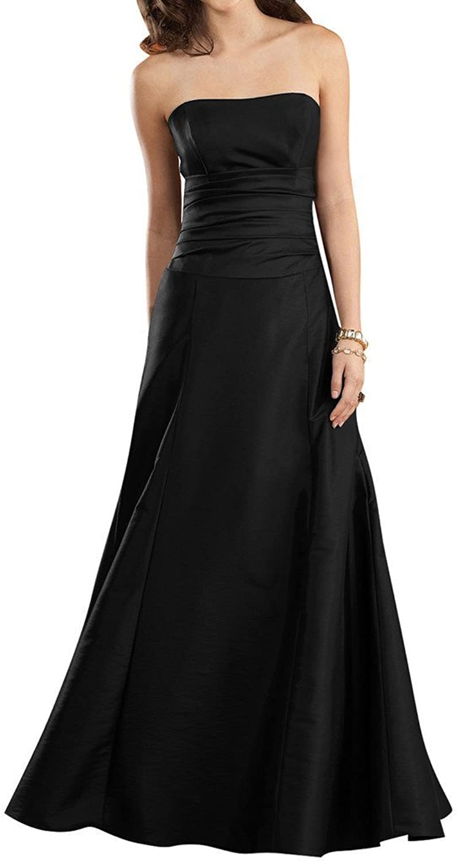 Angel Bride Simple ALine Prom Evening Dresses Bridesmaid Dress Floor Length