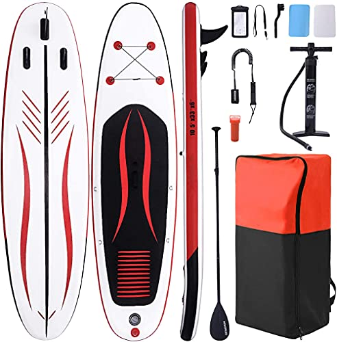 QPP-CL Paddle Board Inflable Stand Up Paddle Board para Adultos y jóvenes Paddle Board Sup Paddleboard Accessories Mochila para Abajo