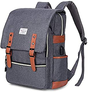 Travel Laptop Backpack,Business Anti Theft Laptops Backpack with USB Charging Port,Water Resistant College School Computer Bag for Women & Men Fits 15.6 inch- Grey