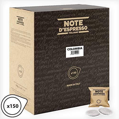 Note D\'Espresso - Bolsitas de café de Colombia monodosis, 7g (caja de 150 bolsas de papel)