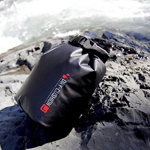 HAKUBA  防水インナーバッグ ドライ クッションポーチ S Dリング付き BK SDCP-S