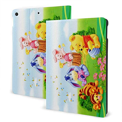 Baby Pooh Bear Case Fit iPad One Size with Auto Sleep/Wake Stand Leather Case for Ipad Air (3rd Gen),Pro 10.5,7th Generation 10.2 Inch IPD-761