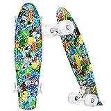 WeSkate Skateboard 56x16cm Monopatin Complete con 4 PU Ruedas Luminosas y Rodamiento de Bolas...