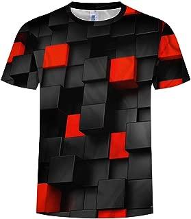 Hombres Mujer 3D Patrón Impreso Camisetas Verano Casual Manga Corta T-Shirt