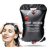 Sporgo Campingdusche Solardusche,20L Camping Dusche Solar Heizung Tasche Tragbare Outdoor Gartendusche Warmwasser mit Duschkopf Schlauch,Mobile Camping Dusche für Camping,Outdoor,Survival