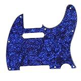 Musiclily Pickguard Tele Standard, Plaque de protection pour Fender (US/Mexique Made) Standard Telecaster Guitare électrique Style moderne, 4plis Perle Bleu