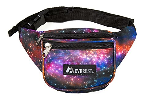Everest Unisex's Signature Pattern Waist Pack, Galaxy, One Size