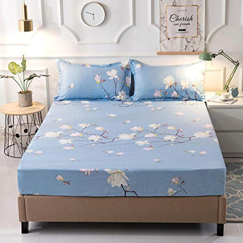 YFGY Extra Deep Fitted Sheets Super king,Waterproof Bed Mattress Cover Waterproof, Mattress Protector Fitted Sheet Bed Linens With Elastic L 200 * 220cm