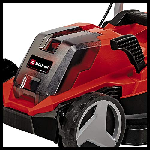 Einhell 3413260 Cordless Lawn Mower GE-CM 18/33 Li Power X-Change (li-ion, for Up to 200 m², 5-Level Central Cutting Height Adjustment Facility, Including 4.0 Ah Battery + Charger)