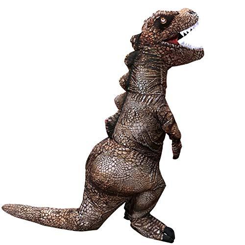 AGGJ Halloween Disfraz Hinchable Con Diseño De Tiranosaurio Rex, Disfraz De Dinosaurio Para Niños Adultos Ropa De Tyrannosaurus Rex Ideal Para Cosplay-Adecuado para altura 1,6-1,9 M