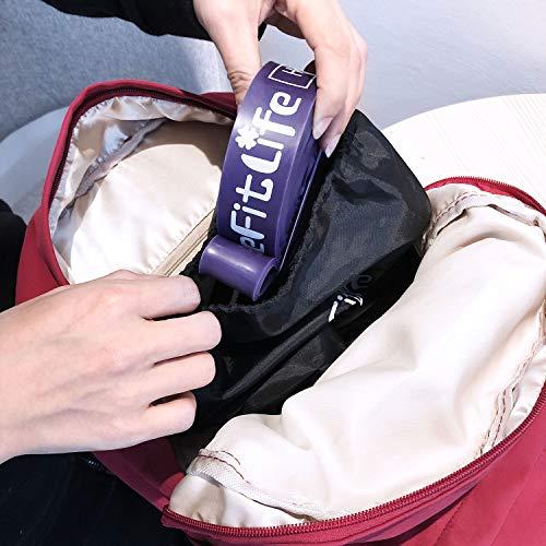 TheFitLifeトレーニングチューブ懸垂チューブ懸垂補助トレーニングバンド筋トレチューブ-天然ラテックス製懸垂アシストフィットネスチューブヨガリハビリストレッチ収納ポーチ・日本語説明書付(ブラック+パープル)