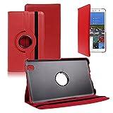 VCOMP® Samsung Galaxy Tab Pro 8.4 SM-T320: Housse avec Support Et Rotation 360° en Cuir PU - Rouge