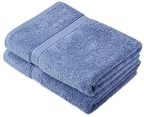 Pinzon by Amazon - Juego de toallas de algodón egipcio (2 toallas de baño), color azul claro