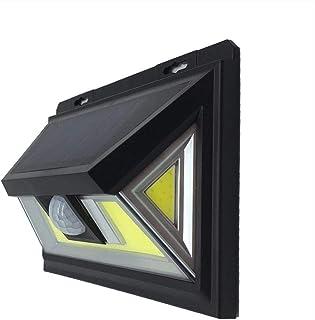 COB LEDs Black PIR Motion Sensor Waterproof Outdoor Wide Angle Wall Lamp Garden Street Lighting Emergency