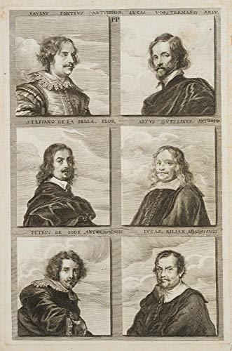 H. W. Fichter Kunsthandel: Collin, 6 Portraits berühmter Künstler. Alte Meister II, ca. 1683, Rad