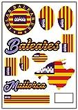 aprom Pegatina de la bandera de Mallorca de Balearen para coche, moto, moto, etc.