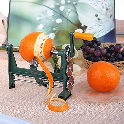 Professioneller handbetriebener Orangenschäler,Manuelle Kurbel Mini Orangenschälmaschine, Küchen Obstschäler Rostfreier Stahl Neuheit Tools und Gadgets