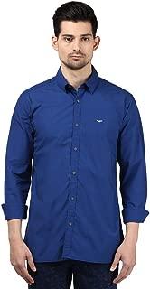 Park Avenue Men Solid Blue Coloured Cotton Blend Shirts
