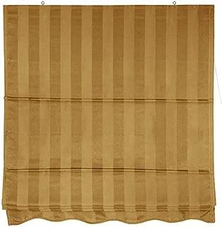 Oriental Furniture Striped Roman Shades - Gold - (24 in. x 72 in.)