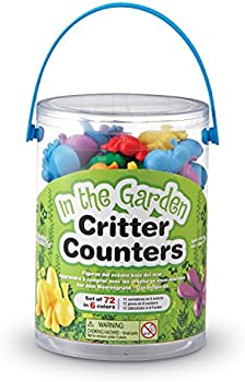 72-Count Learning Resources Critter Counters Math Manipulatives