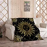 Amiiya Mystic Astrological 6 Flannel Throw Blanket, Astronomy and Astrology Vintage Boho Gypsy Soft Lightweight Bedding Blanket for Bed Couch Sofa Camping 40 x 50 Inches