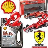 Shell Helix Ultra ECT C3 5w30 Olio Motore 100% SINT. 10LT + 2 Modellini Ferrari