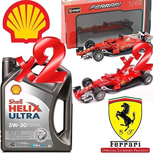 Shell Helix Ultra ECT C3 5w30 Olio Motore 100% SINT. 10LT + 2 Modellini F