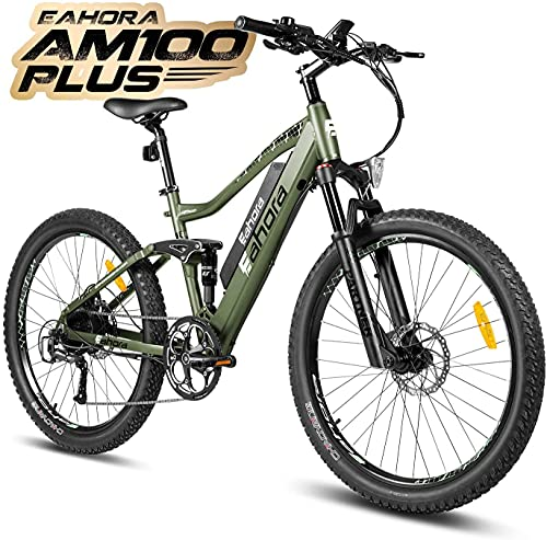Eahora AM100 27.5inch 48V Mountain Electric Bicycle Dual...