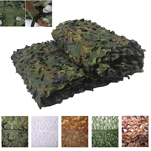 NIANXINN Military Camouflage Net,Polyester Oxford Fabric Camo Net,for Hunting,Shading,Camouflage Decoration,Parasol,Outdoor Terrace Double Layer Sun Protection Net(3x3m(9.8x9.8ft))