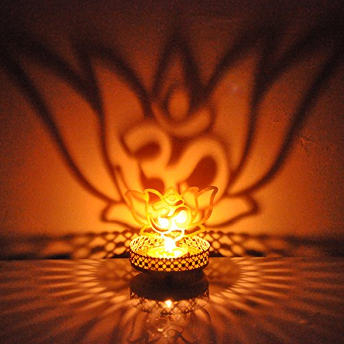 Hashcart Shadow Lotus Tealight Candle Holder | Table Decorative Candle Holder