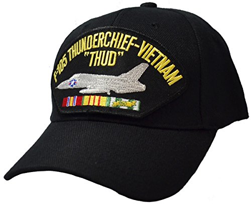 Military Productions F-105 Thunderchief Thud Vietnam War Cap Black