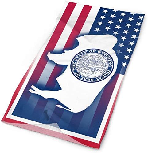 Keyboard cover Bandana de Estados Unidos Wyoming State Bandana Magic Scarf Face Scarf Neck Gaiter One_color. Talla única