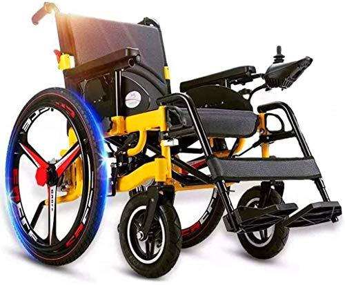 Erik Xian Elektrorollstuhl Elektro-Rollstuhl Faltbare Leicht, Elektro-Rollstuhl mit großen Rädern, Elektro-Rollstuhl, Mobile Stuhl, Sitzbreite 45 cm, verstellbar Joystick Bequemes und sicheres Reisen