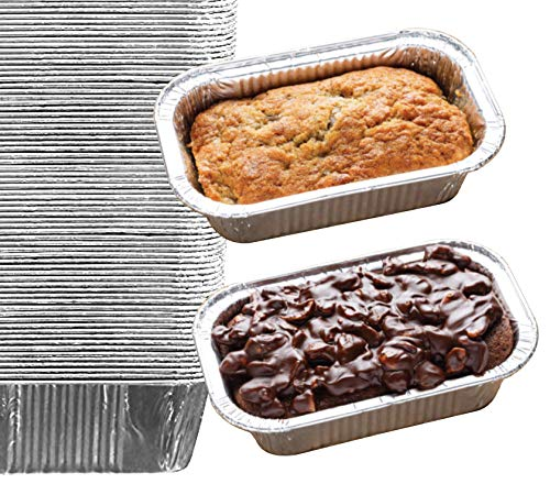 35 Pack - 1LB Cute Mini Loaf Pans, Aluminum Loaf Pans, Bread Pans, Foil Loaf Pan l Cake Pan, Disposable Aluminum Pans l Top bakery's choice Tin Pans - 1 Pound - 6'' X 3.5' x 2'