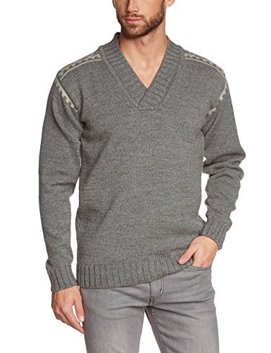 Dale of Norway Men's Alpina Masculine Sweater, Smoke/Light Charcoal, Small