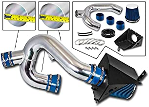 Cold Air Intake System with Heat Shield Kit + Filter Combo BLUE Compatible For 12-14 Ford F150 3.5L V6 EcoBoost