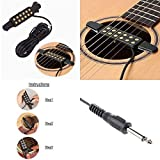 Silenceban™ Guitar Pickup Acoustic Electric Transducer Acoustic Guitar Cable Length 10ft