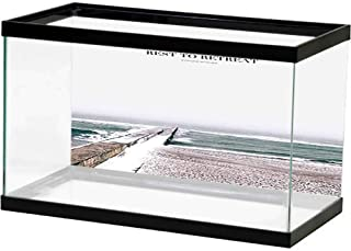 bybyhome HD Aquarium Background Different Phases of Moon Fish Tank Decorative