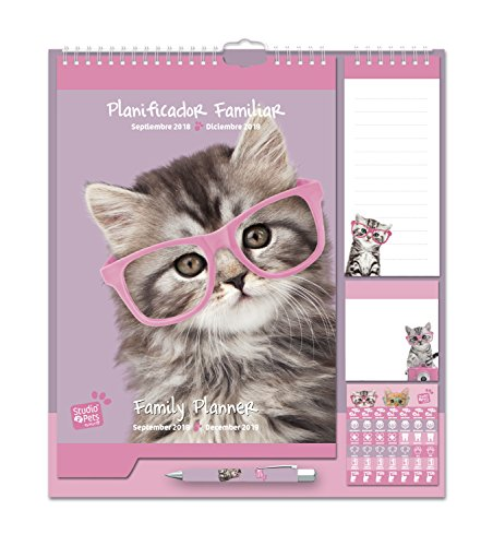 Grupo Erik Editores - Studio Pets Gato Calendario Pared Plan