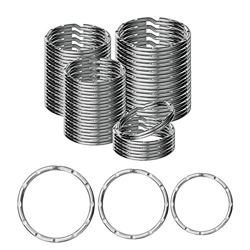 Ruesious Wreath Key Rings (30 Pack) (20/25/30mm),Keyring Split Ring,Key Chain...