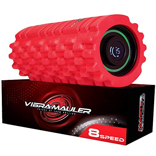 Master of Muscle Vibrating Foam Roller - 8 Speed - Best High-Intensity Vibration...