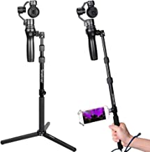 Smatree Selfie Stick Monopod with Tripod Compatible for DJI OSMO, OSMO Mobile, OSMO Pro/Raw, Telescope Pole with Adapter for DJI Phone Clip Holder (DJI Phone Clip Holder Not Included)