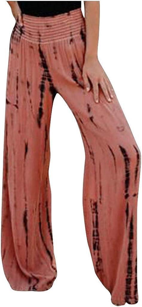 Wide Leg Pants for Super-cheap Women High Waist Very popular! Stretchy Boho Casual L