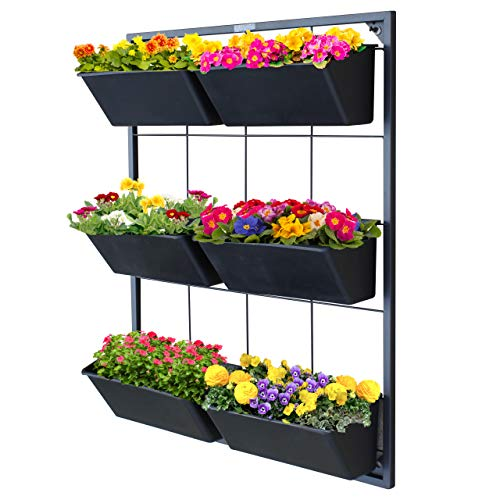 Garraí Vertical Garden Wall Planter - Wall Mounted Hanging Planter for Flowers, Vegetables or Herb Garden (Vertical Wall Planter)